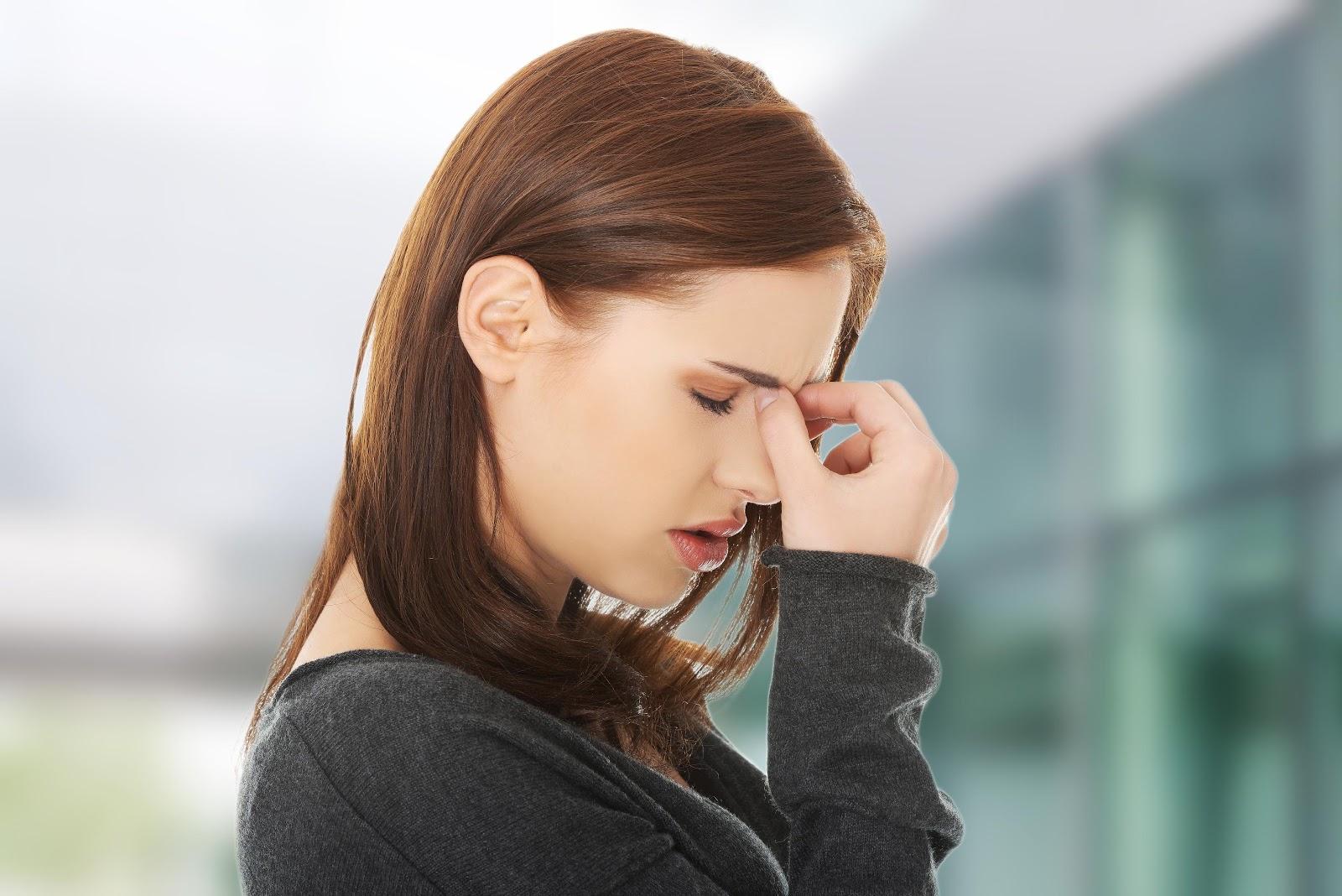sinus surgery woman headache