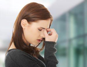woman sinus headache sinusitis